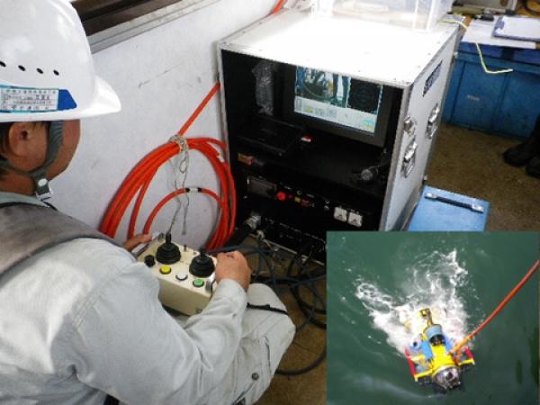 水中ROV 施工状況確認